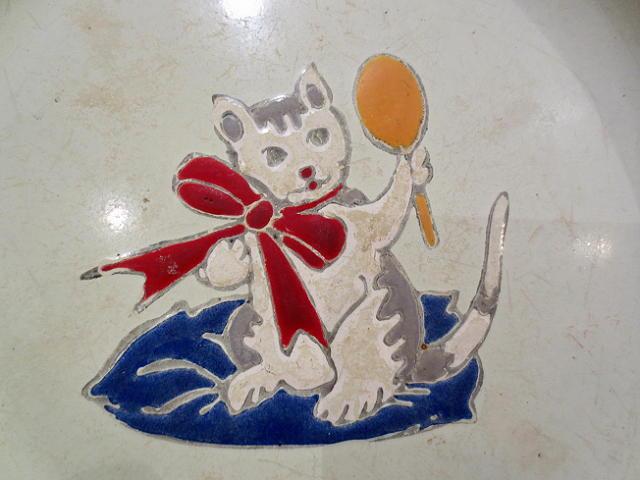 画像1: 猫、ホーロー皿